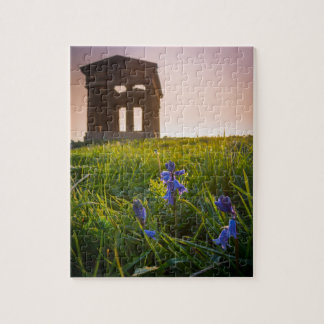 Bluebells on Penshaw Monument Jigsaw Puzzle