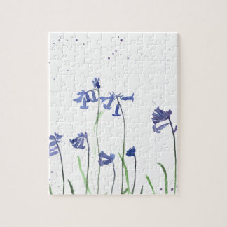 Bluebells watercolour painting jigsaw puzzle
