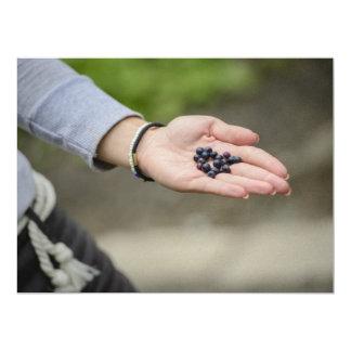 Blueberries 17 Cm X 22 Cm Invitation Card