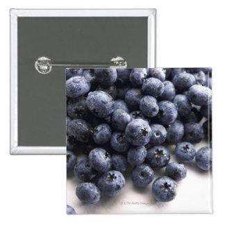 Blueberries 2 15 cm square badge