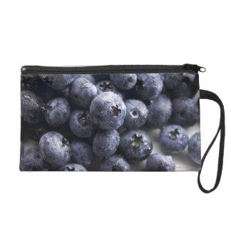 Blueberries 2 wristlet clutch