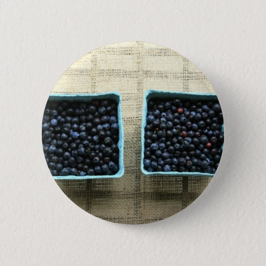 Blueberries 6 Cm Round Badge