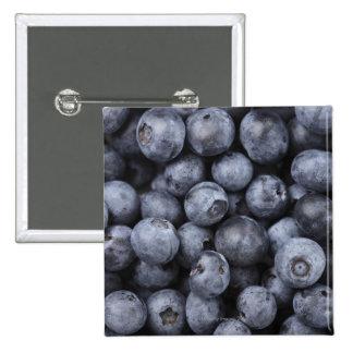Blueberries 15 Cm Square Badge