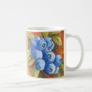 Blueberries Basic White Mug