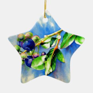 Blueberries Christmas Ornament