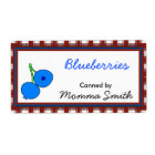 Blueberries Custom Canning Labels