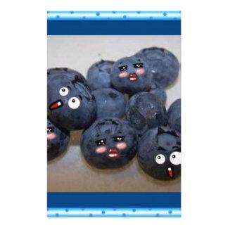 blueberries custom stationery
