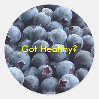 blueberries, Got Healthy? Classic Round Sticker