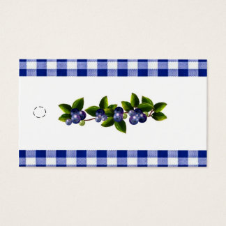 Blueberries Hang Tag Business Card