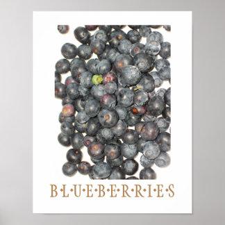 Blueberries Kitchen Art Poster