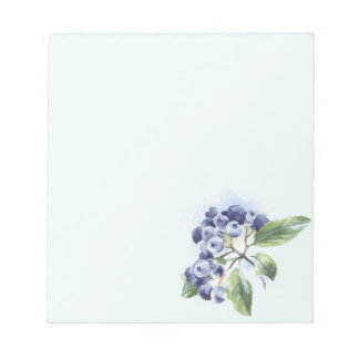 Blueberries Notepad