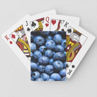 Blueberries pattern poker deck