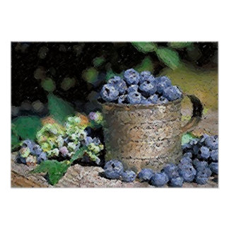 Blueberries Poster Print