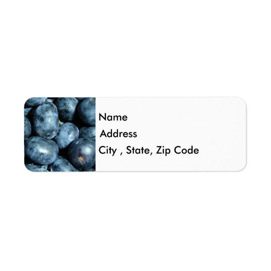 Blueberries Return Address Label