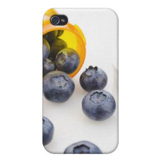 Blueberries spilling from prescription bottle cases for iPhone 4