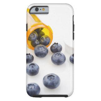 Blueberries spilling from prescription bottle tough iPhone 6 case