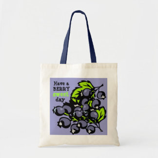 Blueberries Tote Canvas Bags