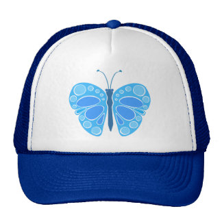 Blueberry 60s Whimsical Butterfly Cap
