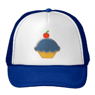 Blueberry and Cherry Cupcake Art Cap