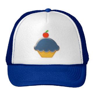 Blueberry and Cherry Cupcake Art Cap