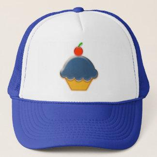Blueberry and Cherry Cupcake Art Trucker Hat
