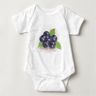 blueberry baby bodysuit