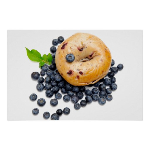 Blueberry Bagel Poster