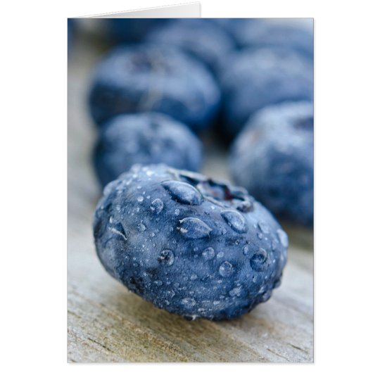 Blueberry Birthday Card