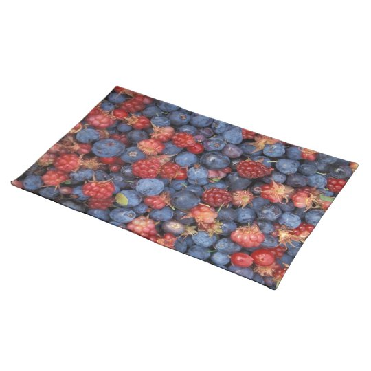 Blueberry Blue Colourful Fruit Food Sweet Destiny Placemat
