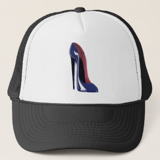 Blueberry blue stiletto shoe trucker hat