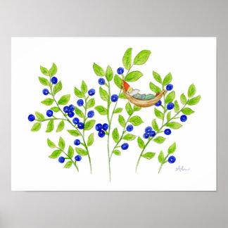 Blueberry Bush Gnome art print