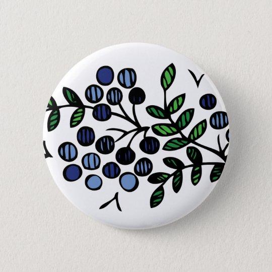Blueberry button flower design