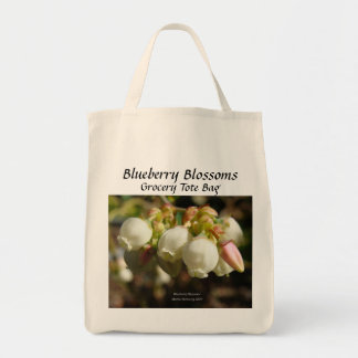 Blueberry - California Gardens Grocery Tote Bag