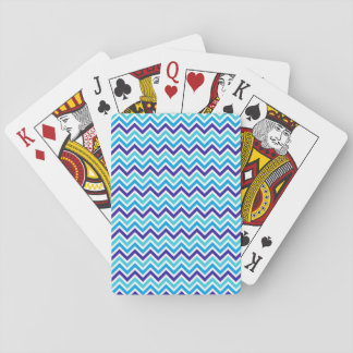 Blueberry Chevron Stripe Zig Zag Bicycle Cards
