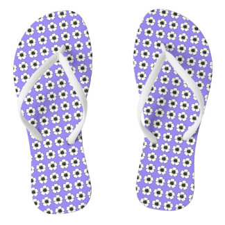 Blueberry-Cottage-Flower's_Teen-ADULT-Unisex Flip Flops