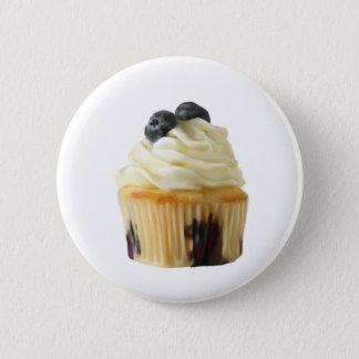Blueberry cupcake 6 cm round badge