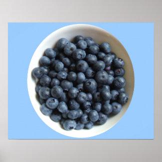 Blueberry Decor Canvas Poster