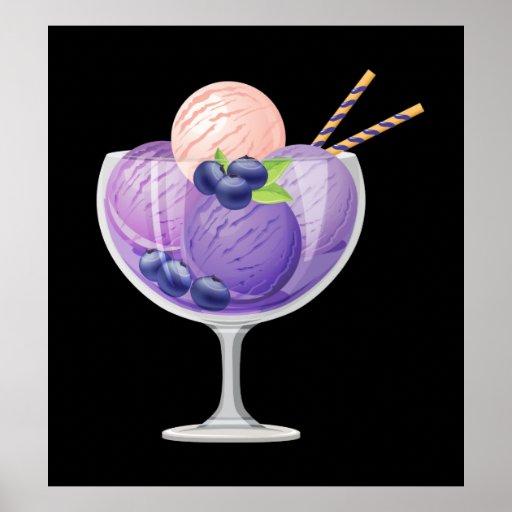 Blueberry Ice Cream Posters