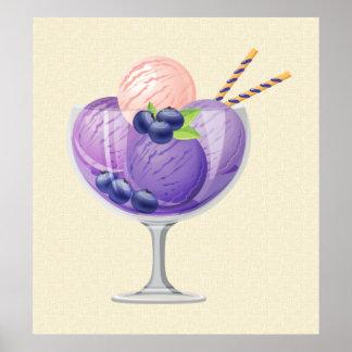 Blueberry Ice Cream Poster