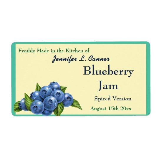 Blueberry Jam or Preserves Fruit Canning Jar