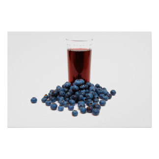 Blueberry juice poster