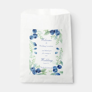 Blueberry Midsummer Rustic Berry Wedding Favour Bags
