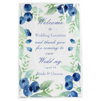 Blueberry Midsummer Rustic Berry Wedding Medium Gift Bag