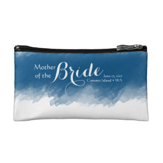 Blueberry Mother of the Bride Cosmetic Bag