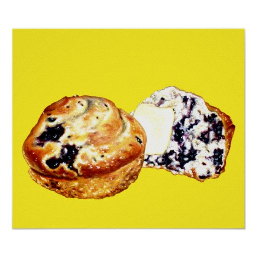 Blueberry Muffins Poster