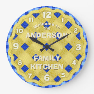 Blueberry Pie Country Kitchen Bakery Diner | Name Wallclock