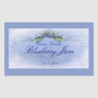 Blueberry RCL 1 Rectangular Sticker