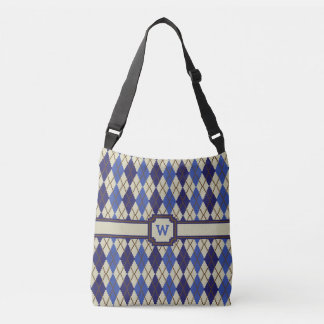Blueberry Scone Argyle All-Over-Print Bag