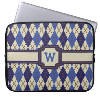 Blueberry Scone Argyle Laptop Sleeve