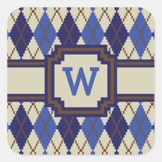 Blueberry Scone Argyle Sticker